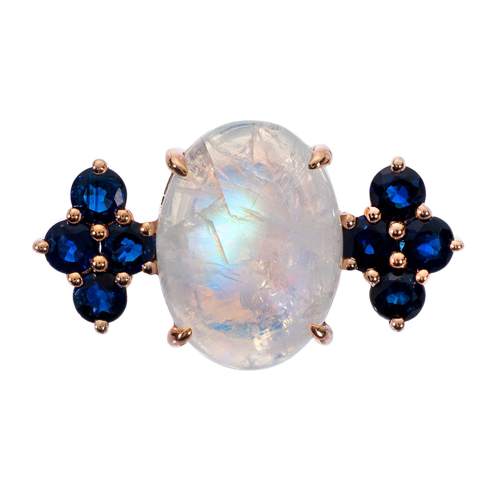 Asha Ring Rose Gold Moonstone