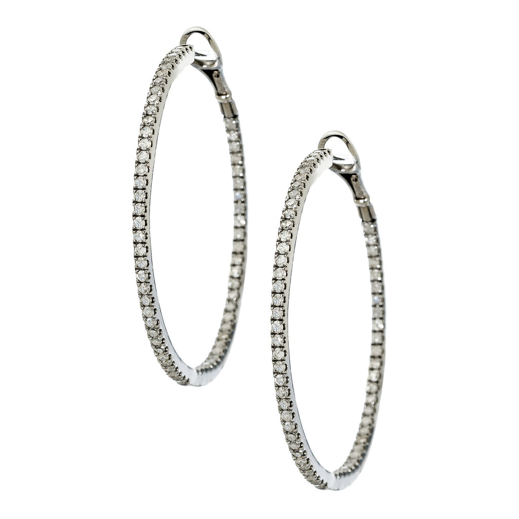 Mary Hoops 1.5mm Silver