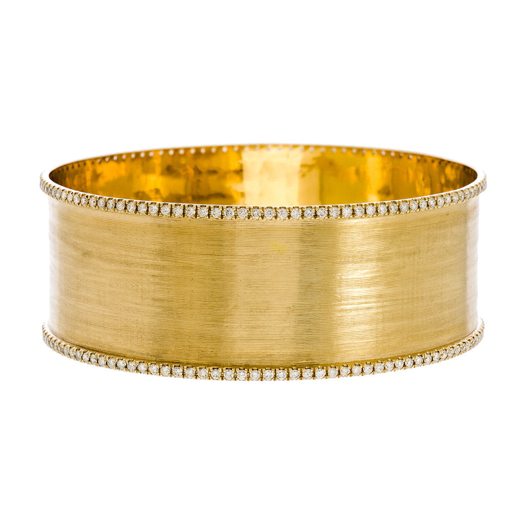 Hollie Double Bangle Yellow Gold Diamond