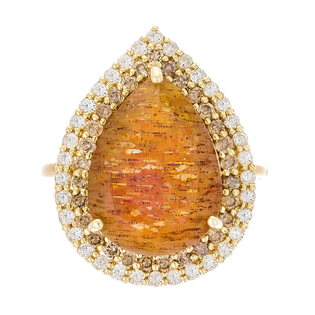 Patricia Ring Golden Moonstone Yellow Gold