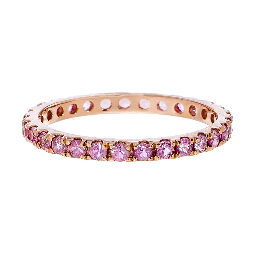 Josephine 2mm Band Rose Gold Pink Sapphire