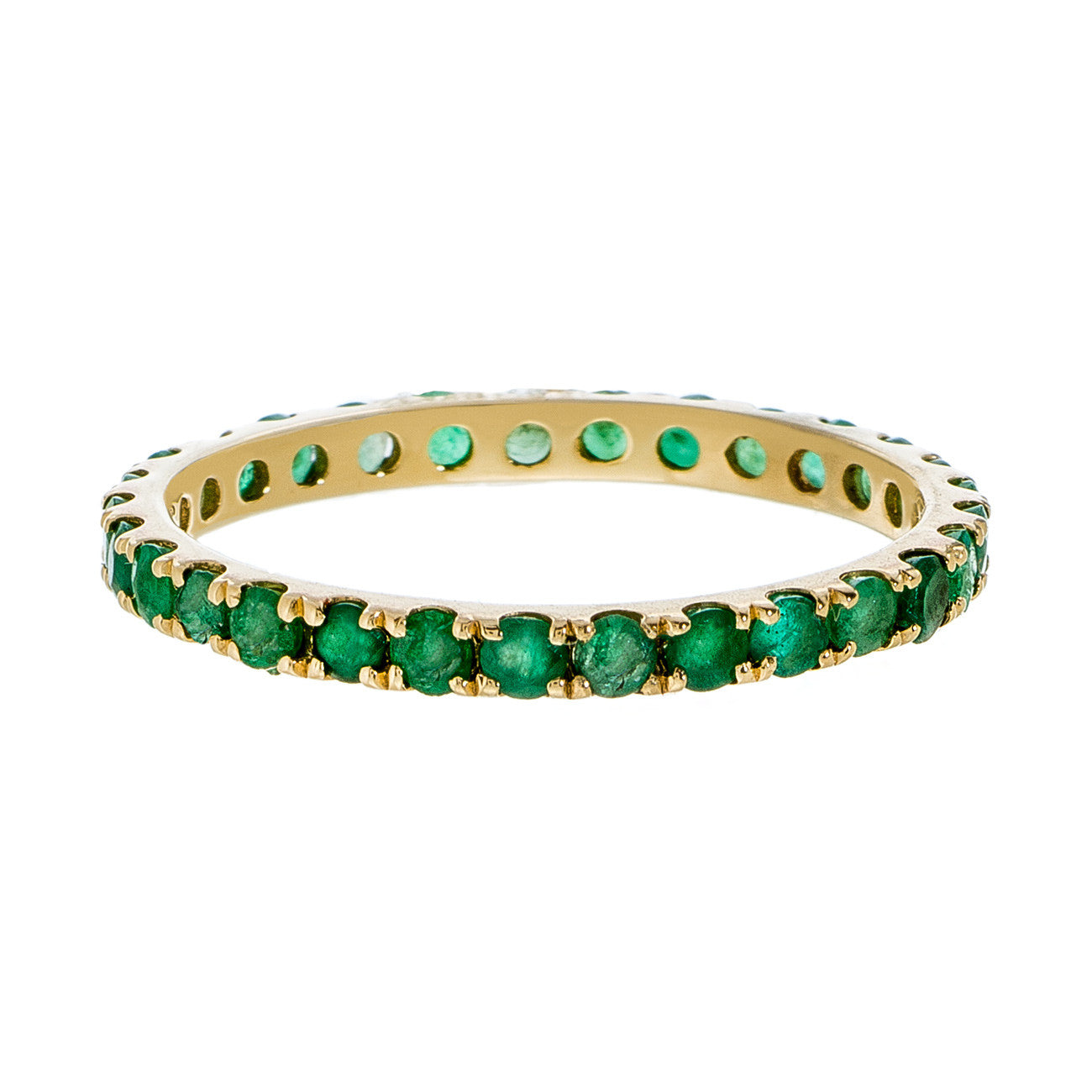 Josephine Band Yellow Gold Emerald 2mm