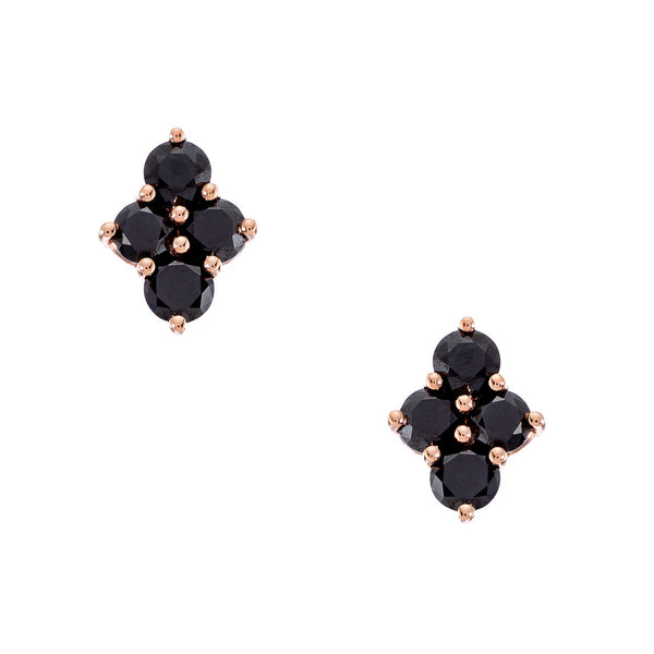 Asher Studs Yellow Gold Black Diamond