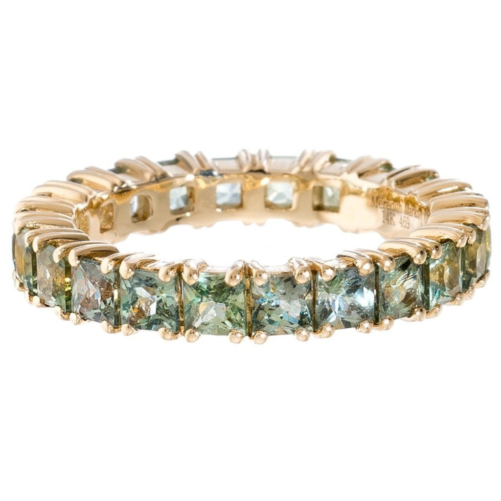 Josie Band Yellow Gold Green Sapphire
