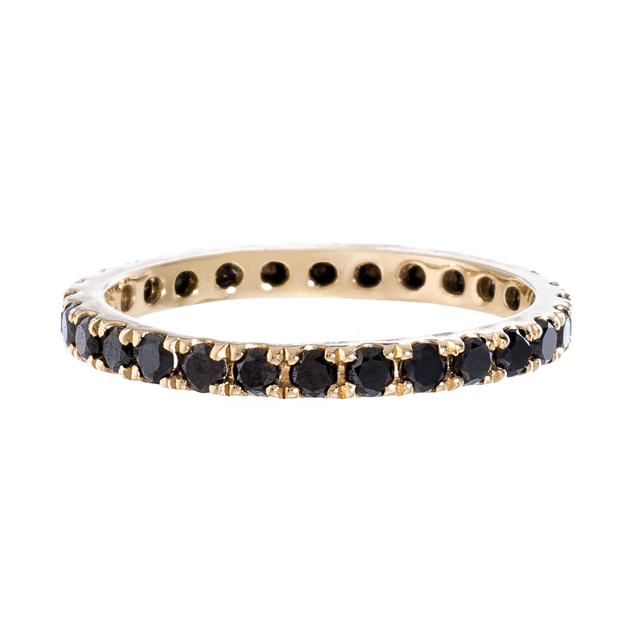 Josephine Band Yellow Gold Black Diamond 2mm
