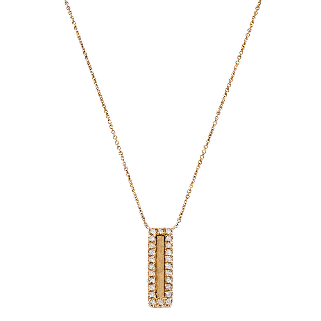 Hollie Mini Vertical Necklace Yellow Gold