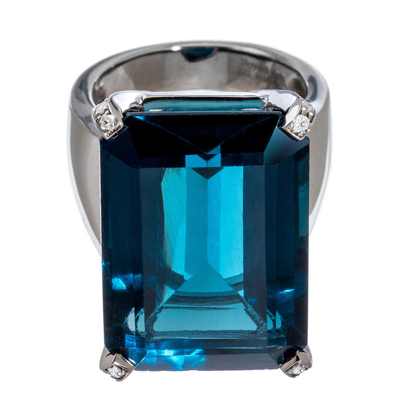 Lucy Ring London Blue Topaz