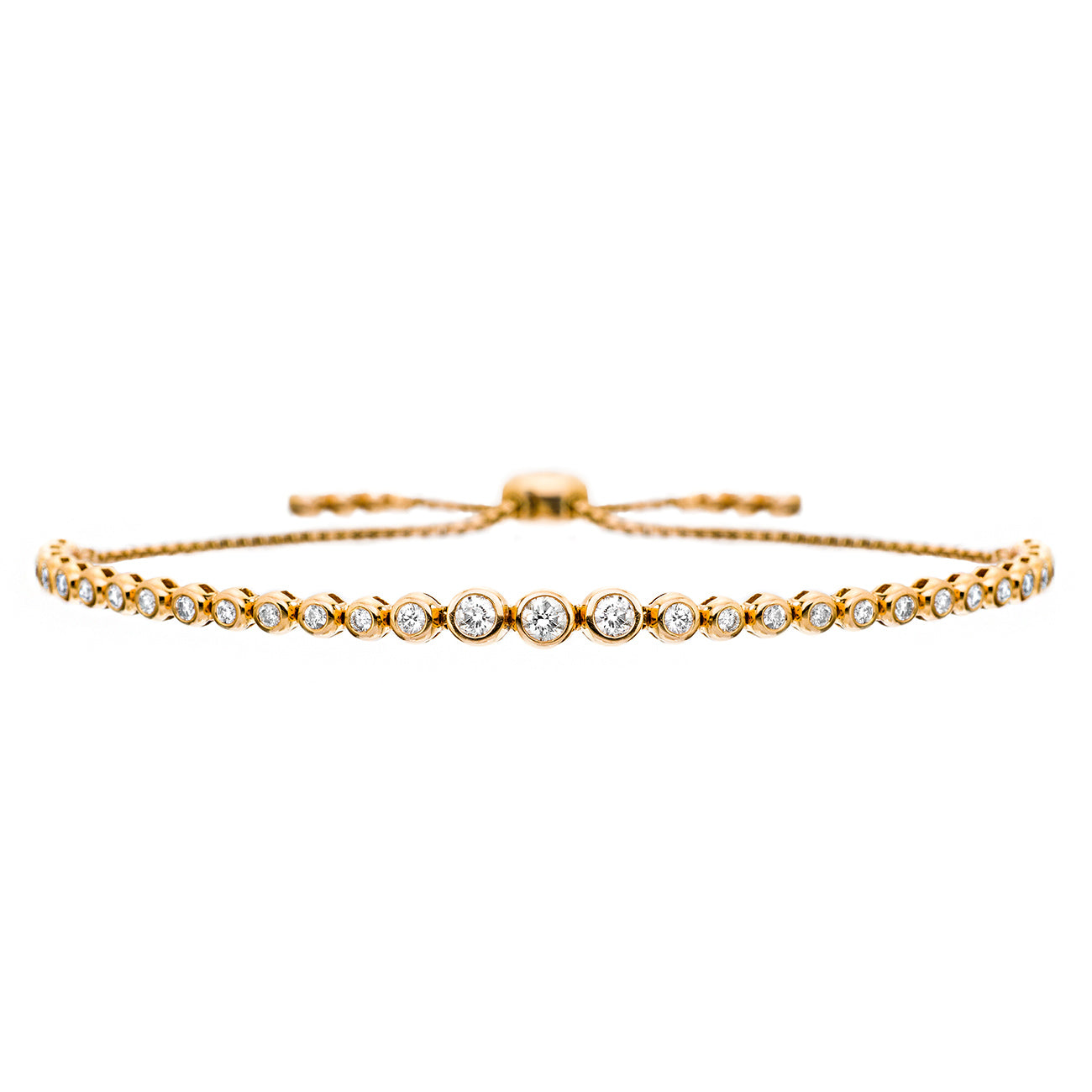 Sally Bolo Bracelet Rose Gold, Graduated