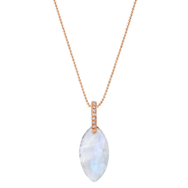 Annalise Necklace Rose Gold Moonstone