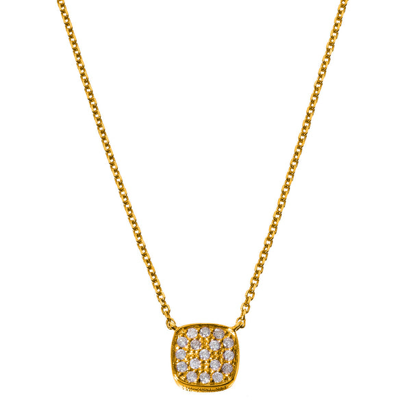 Jasmine Necklace 2-Sided Yellow Gold