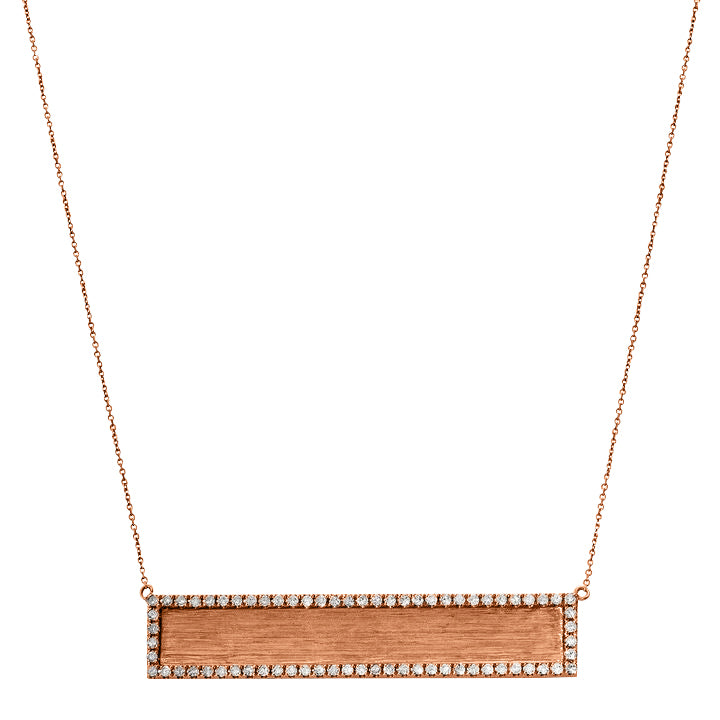 Hollie Horizontal Necklace Rose Gold