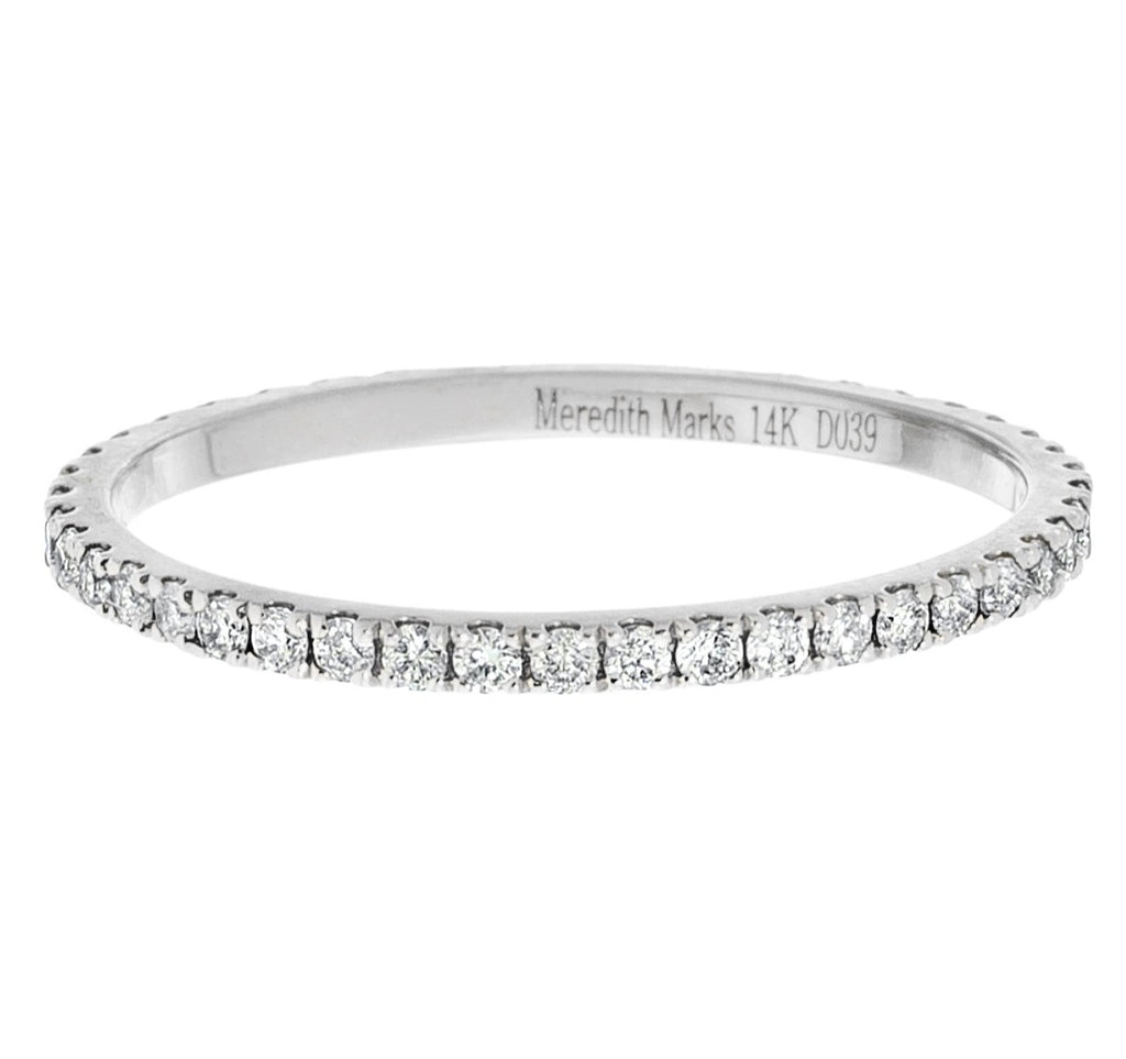 Josephine Band White Gold Diamond 1mm