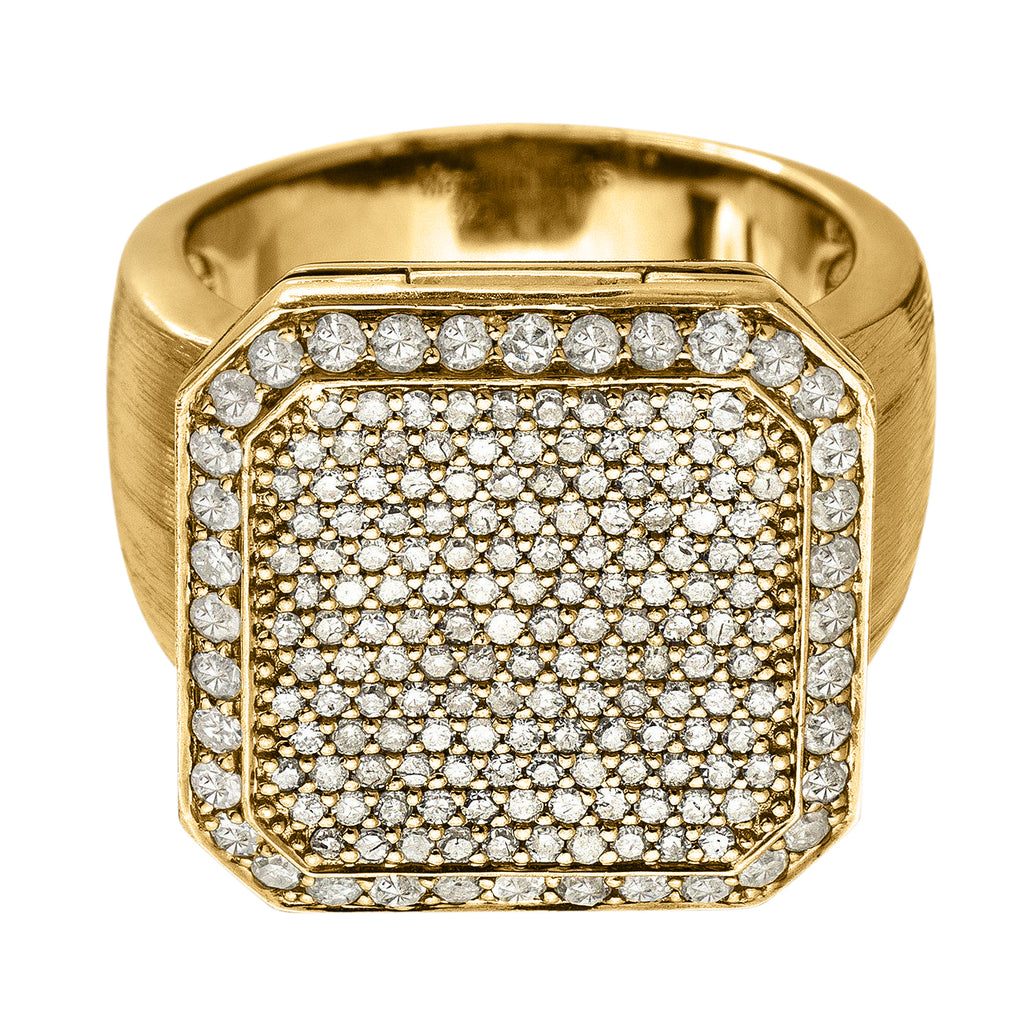 Poison Ring Large Full Pavé Yellow Gold