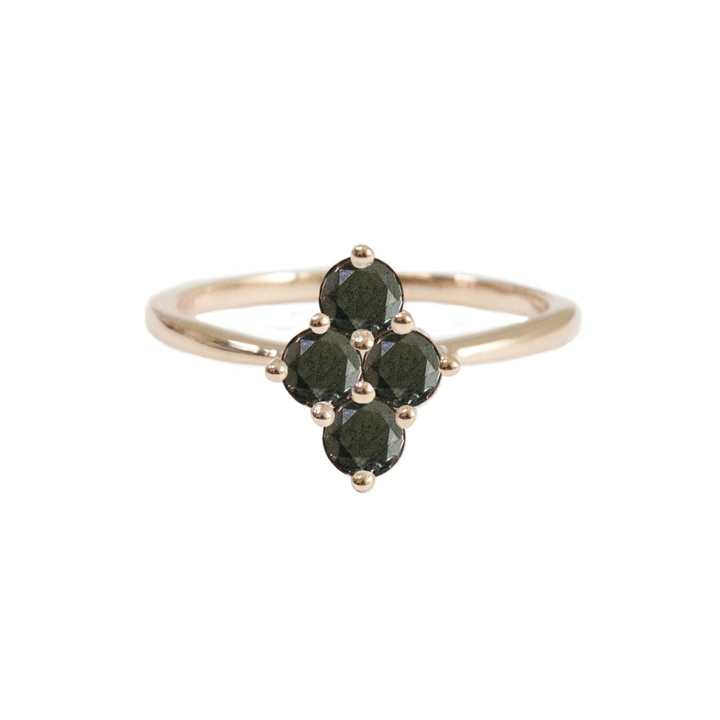 Asher Ring Rose Gold Black Diamond