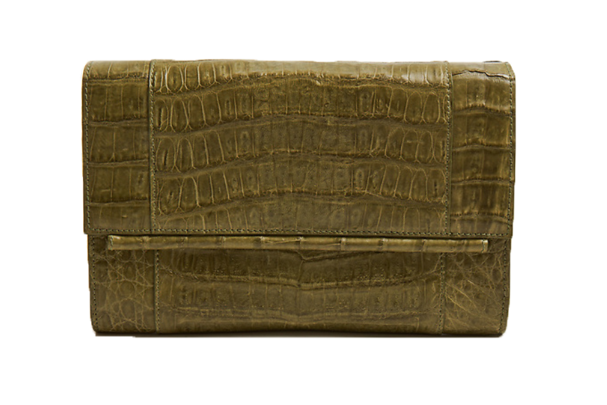 Clara Crocodile Clutch