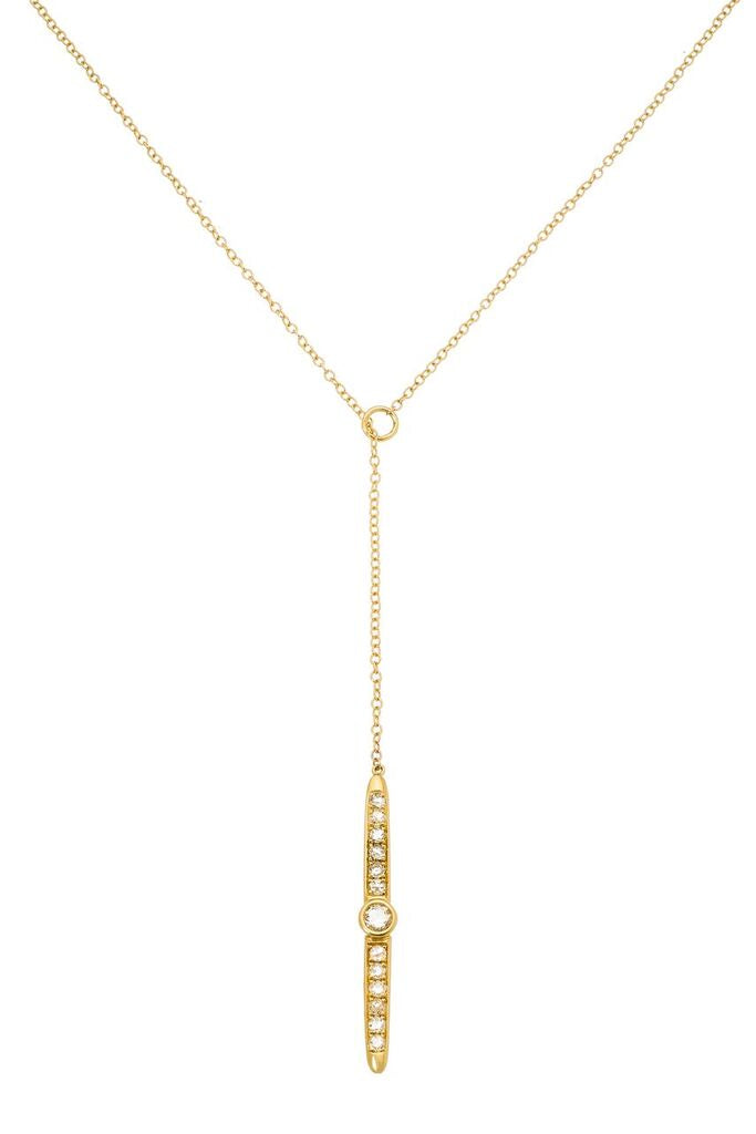 Sliver Lariat Yellow Gold