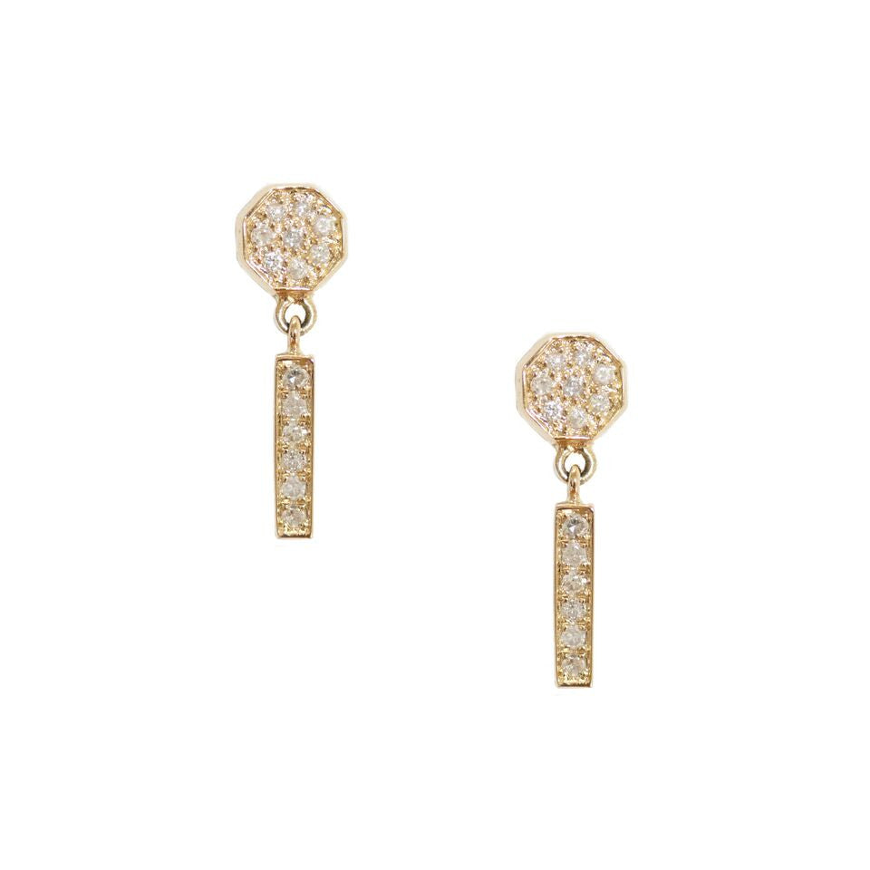Eliza Earrings Yellow Gold