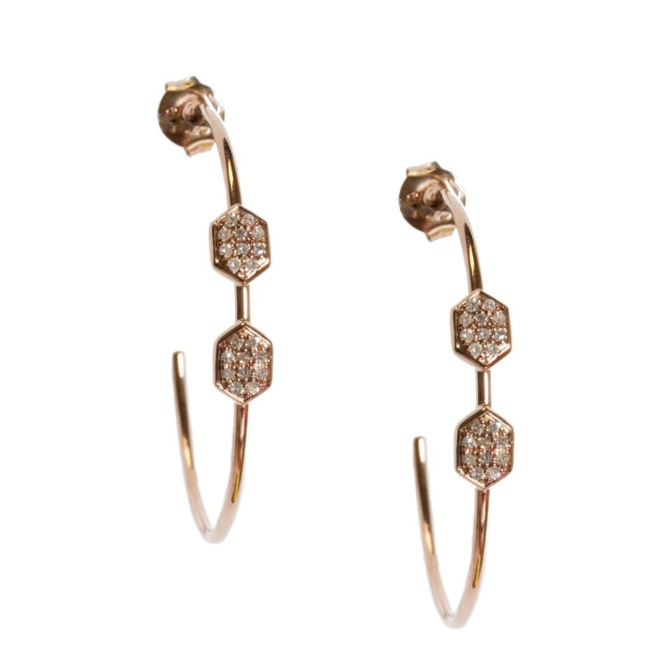 Melissa Hoops Rose Gold