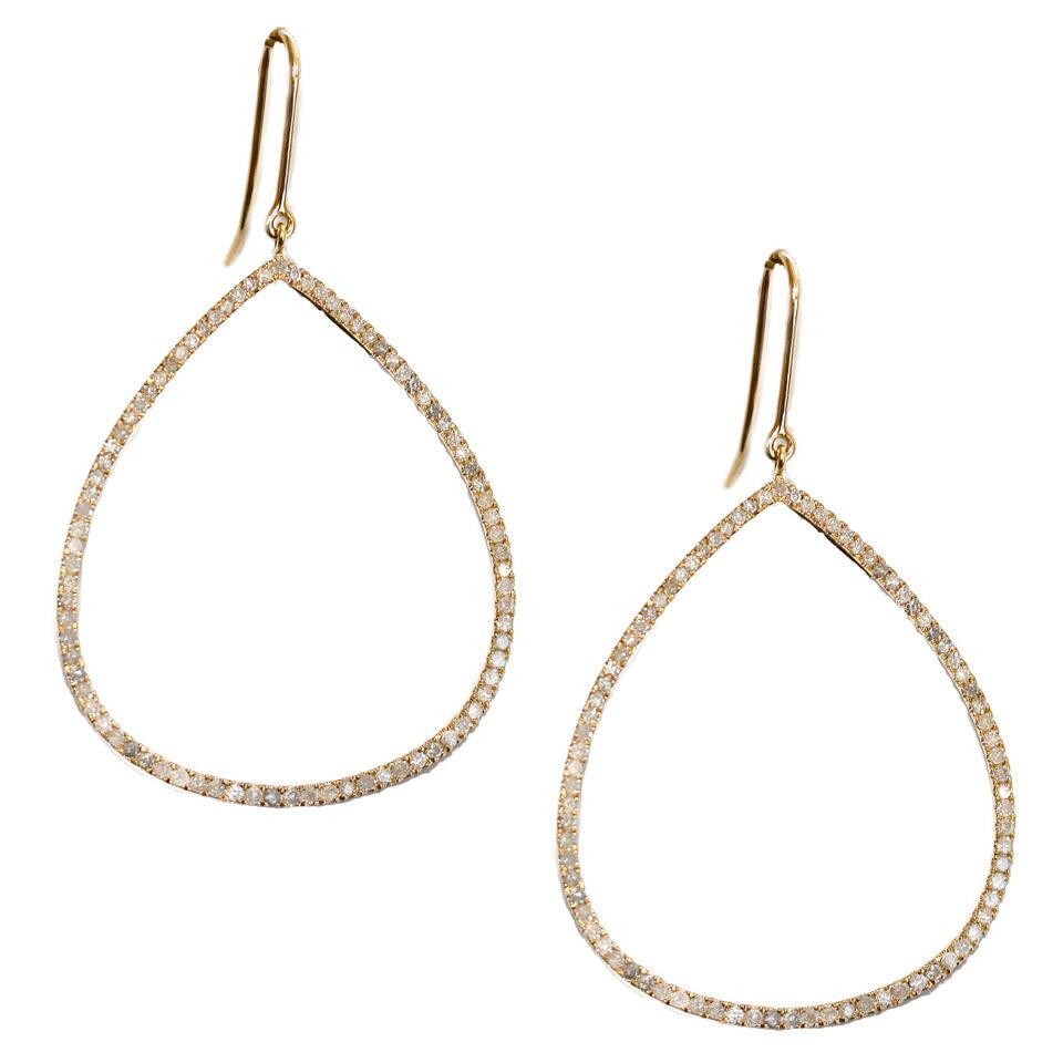 Mary Teardrop Earrings Yellow Gold