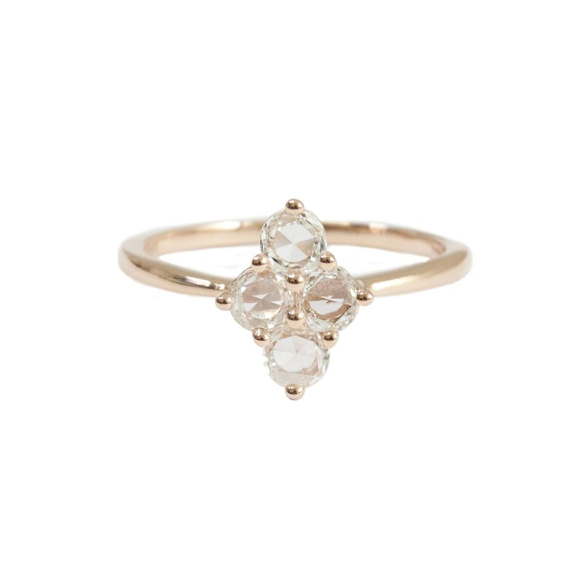 Asher Ring Rose Gold Rose Cut Diamond