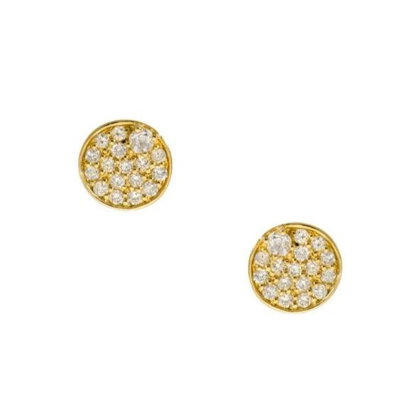 Stardust Studs Yellow Gold