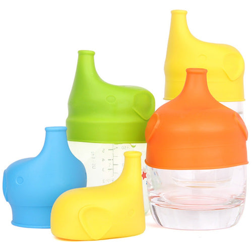 Spill Proof Silicone Sippy Lids (Set Of 5) - SuperShopSale.com