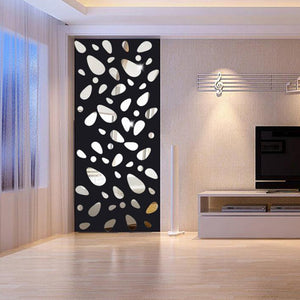 12 Pcs/Set DIY Acrylic Mirror Wall Stickers