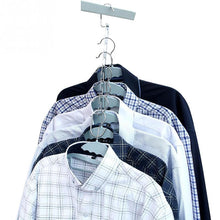 Load image into Gallery viewer, 4 Pack Magical Space-Saving Chrome Hangers Special Offer - SuperShopSale.com