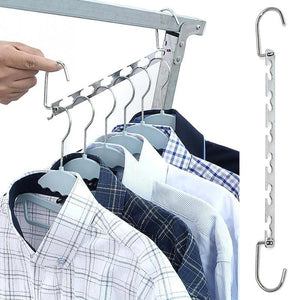 4 Pack Magical Space-Saving Chrome Hangers Special Offer - SuperShopSale.com