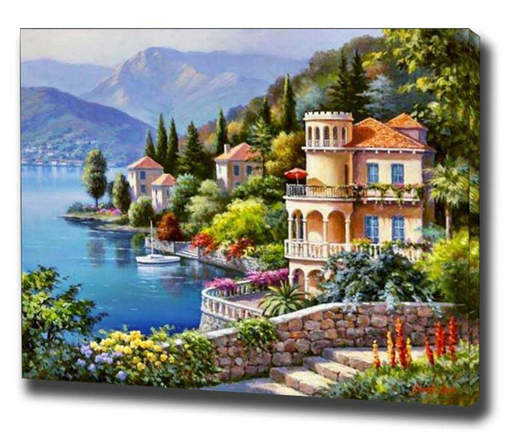 DIY Painting By Numbers - Lakeside Villa