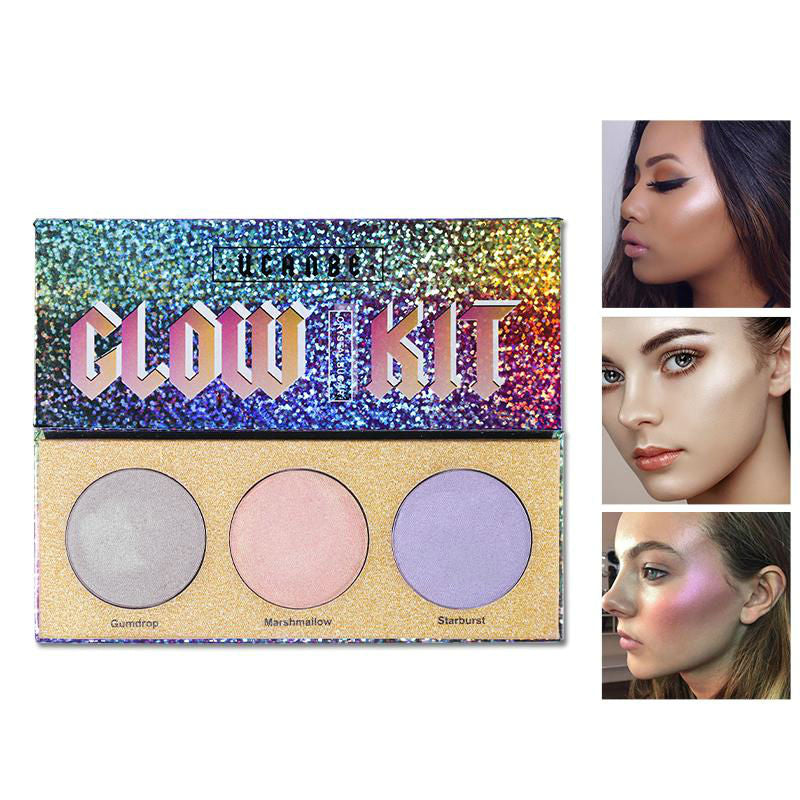 Chameleon Crystal Sugar Eyeshadow Makeup Palette Cosmetic Kit - SuperShopSale.com