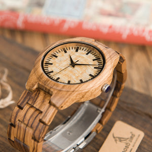 BOBO Bird Wooden Wristwatch For Men - SuperShopSale.com