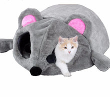 Load image into Gallery viewer, Mouse Cat House Bed With Removable Cushion & Waterproof Bottom - SuperShopSale.com