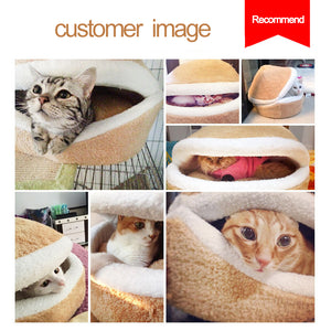 Burger Bun Shaped Cat Bed
