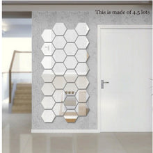 Load image into Gallery viewer, 7 Pcs Geometric Hexagon Mirror Wall Stickers