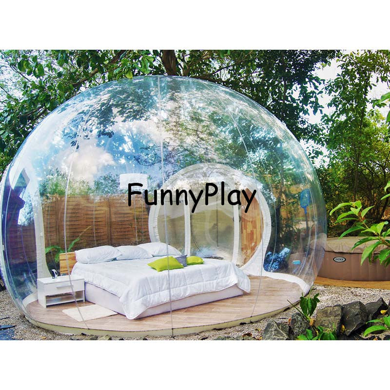 Single Tunnel Inflatable Bubble Tent House For Family Use - SuperShopSale.com