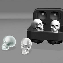 Load image into Gallery viewer, 3D Skull Ice Cube Molds