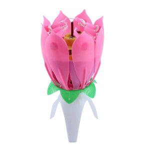 Musical Candle Lotus Flower - SuperShopSale.com