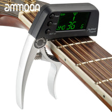Load image into Gallery viewer, Guitar Capo with Built-in Tuner