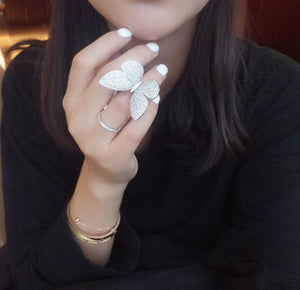 Crystal Stones Made Butterfly Ring [Limited Edition] - SuperShopSale.com