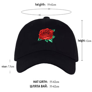 Rose Embroidery Hat For Men And Women - SuperShopSale.com