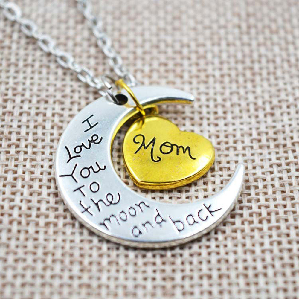 I Love You To The Moon And Back Pendant Necklace - SuperShopSale.com