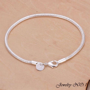 Silver Plated Bracelet For Men and Women