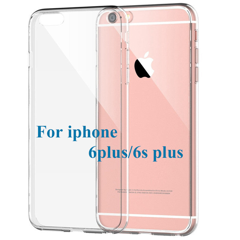 Slim Crystal Clear TPU Silicone Protective sleeve for iPhone 6 plus / 6s plus cover cases, FREE + SHIPPING