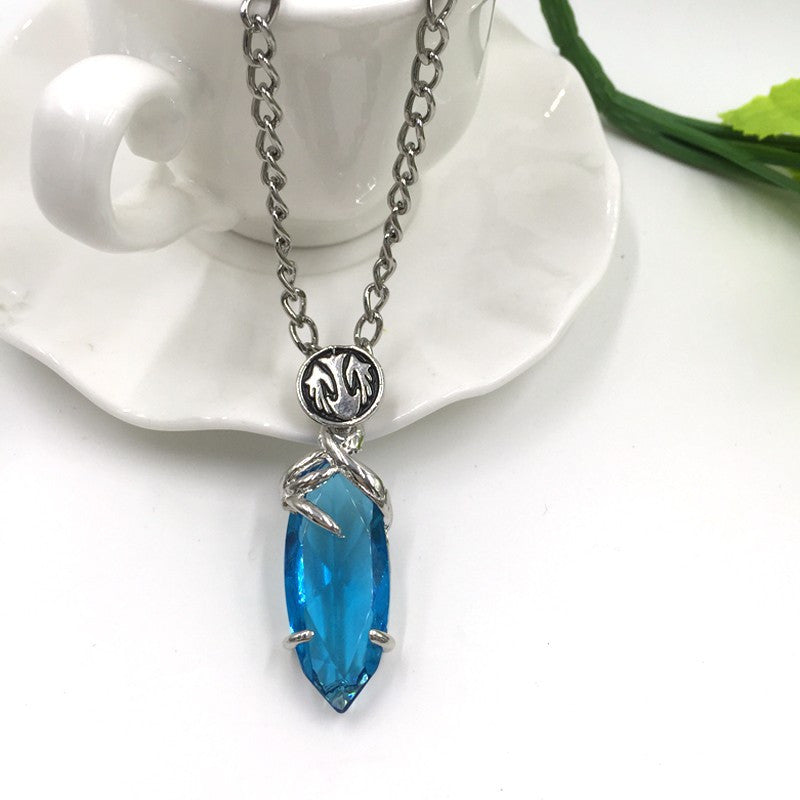 Final fantasy crystal blue pendant necklace supershopsale final fantasy crystal blue pendant necklace mozeypictures Image collections