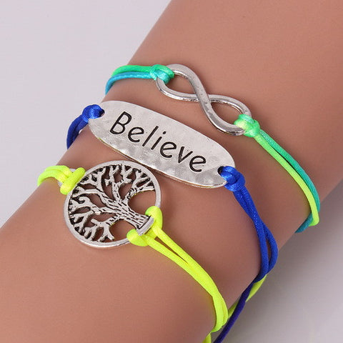 Fashion Heart Mouse Life Tree love Charm Bracelets (Free Shipping)
