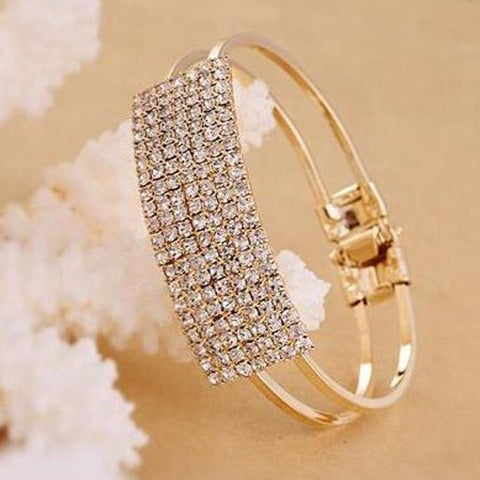 Elegant Crystal Cuff Bling Magnetic Bracelet (Free Shipping)