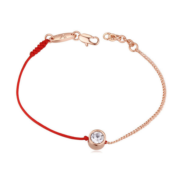 Austrian Crystals jewelry thin red thread string rope Charm Bracelet (Free Shipping)