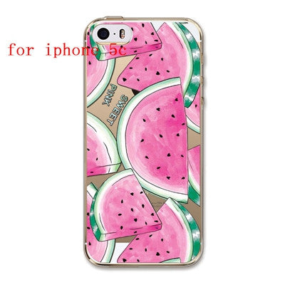 Fruit Pineapple, Lemon, Banana, Soft Silicon Transparent Case Cover For Apple iPhone 4, 4S, 5, 5S SE, 5C, 6, 6S, 6Plus, 6S Plus, FREE + SHIPPING