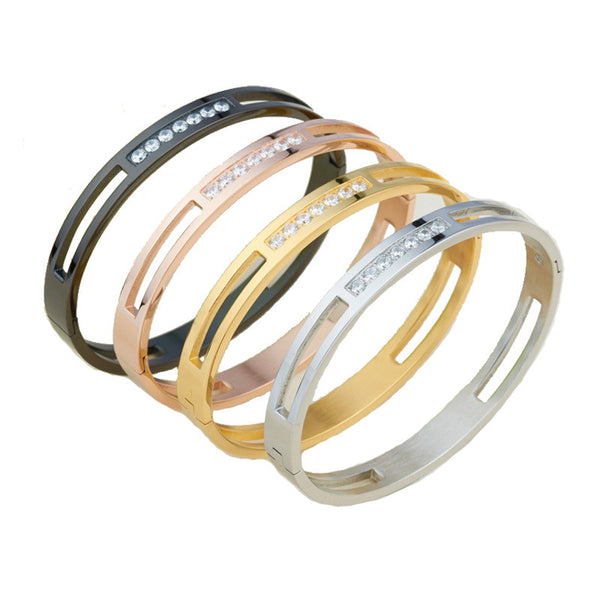 Titanium Stainless Steel / Gold Plated Crystal Brand lover Charm Bracelets For Women and Men (Free Shipping)